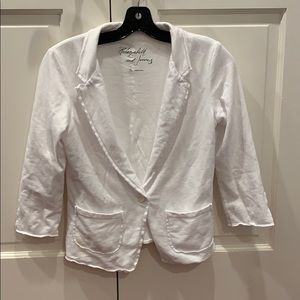 Elizabeth and James white cotton blazer super soft